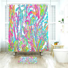 lilly pulitzer floor mats lilly s to waterproof fabric shower curtain bath mat for lilly pulitzer