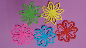 How To Make A Beautiful Flower With Paper How To Make Beautiful Flower With Color Paper Diy Paper Flowers