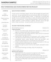 Samples Of Resumes For Administrative Positions Great Administrative