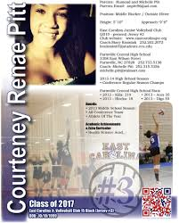 Volleyball Resume Sports Resumes Recruiting Flyers Pinterest