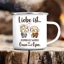 Campingbecher Liebe Ist Zusammen Alt Werden Kaffeebecher
