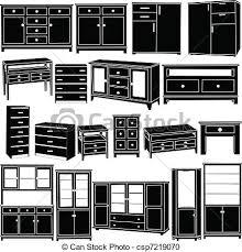 dresser clipart black and white. dresser clipart #140 black and white