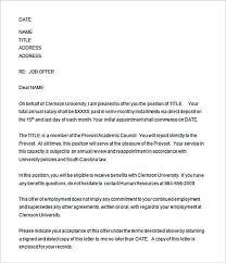 Sample Employment Offer Letter Template 29 Offer Letter Template