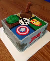 Avengers Birthday Cake Buttercream Frosting With Mmf Accen Flickr