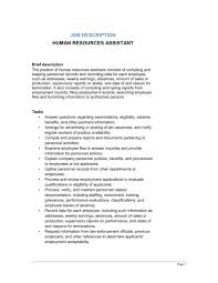 Human Resources Assistant Job Description - Template & Sample Form ...