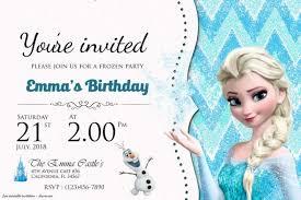 Frozen Birthday Invitations Inspiring Frozen Printable Invitation Templates Pictures