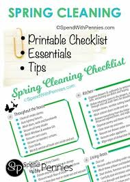 Spring Cleaning Tips Printable Checklist More