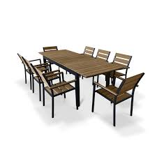 amazing urban furnishings 9 piece extendable outdoor dining set reviews gray outdoor dining
