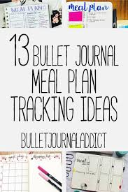 Meal Tracking 13 Bullet Journal Meal Plan Tracker Ideas Bullet Journal
