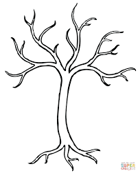 Small Picture Tree with Roots coloring page Free Printable Coloring Pages