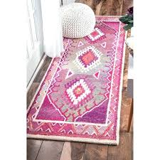 the curated nomad handmade bohemian tribal pink runner area rug uk
