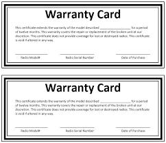 warranty template word warranty card template warranty certificate template word card