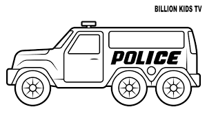 Timely Police Coloring Pages Big Truck Colors For Kids With Street 7