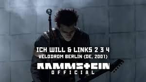 <b>Rammstein</b> - Ich Will & Links <b>2</b> 3 4 (Velodrom Berlin 2001) - YouTube