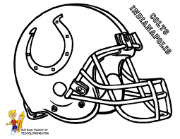 indianapolis colts football helmet coloring pages