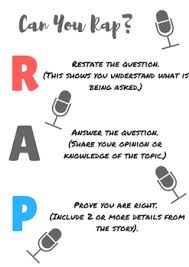 Charts Rap Reading And Writing Anchor Charts Relax And Rap