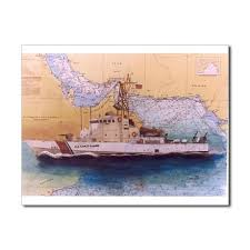 Uscgc Wrangell Nautical Chart Art Cathy Peek 5 5 X Uscg
