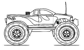 Monster Truck Coloring Pages Free Printable Coloring Pages Of