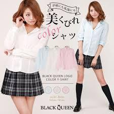 ギャル ファッション 制服 女子高生 シャツ 白 レディース ロゴ ホワイト