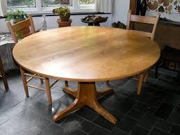 custom cherry round pedestal table