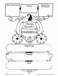 6c6e5adaa488a61a854c61d4aa28cb9d first grade comprehension writing stories worksheets cinderella on slide flip turn worksheet