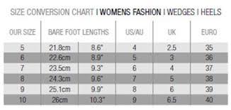 Australian Clothing Size Conversion Chart Womens Sizing Chart