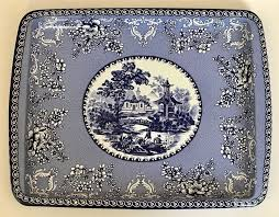Daher Decorated Ware Tray Made In England Extraordinary Details About DAHER DECORATED WARE Blue Willow Metal Tray 32 X 32 Made