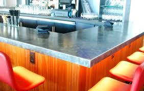 formed zinc countertops