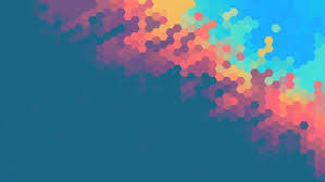 art background hd. Unique Art Digital Art Colorful Geometry Hexagon Blue Background HD Wallpaper  Desktop And Art Hd