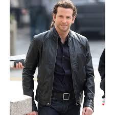 bradley cooper limitless black leather jacket
