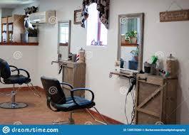 Hair Cutting Salon Interior Design Interior Design Of A Beauty Salon Stock Photo Image Of