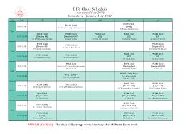 Class Schedule Courses Offered Birpolsci