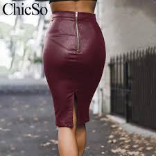senarai harga missychilli spring black leather skirt women split con red high waist skirt female y party club elegant skirt bottoms new terkini di