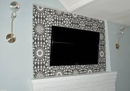 decorate around the tv electronics