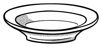 Bowl Plate Soup Download Black And White Free Commercial Clipart