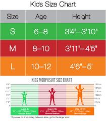 Morphsuit Size Chart Details About Black Original Kids Morphsuit Fancy Dress Child Costume