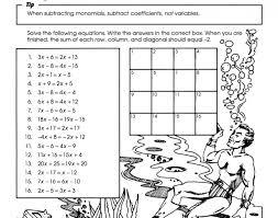 pre algebra fun worksheets 99worksheets