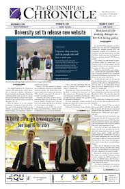 The Quinnipiac Chronicle, Issue 8, Volume 87 by The Quinnipiac ...