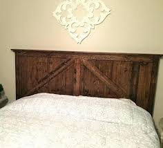 barn door bed frame headboard finished style old