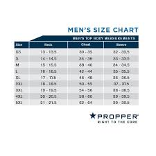 Propper Mens Top Body Size Chart Uniform Tactical Supply