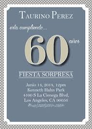 60 birthday invitations 60th birthday spanish invitation so printable