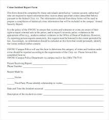 Incident Report Samples Freeletter Findby Co