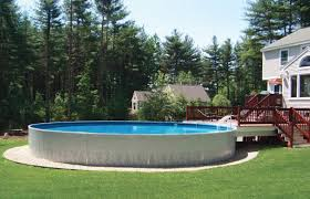 Backyard Designs With Pool Interesting Beauty On A Budget Above Ground Pool Ideas Freshome