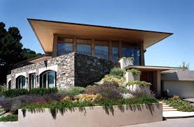 modern home architecture stone. Stone And Wood Modern Home Roof Architecture I