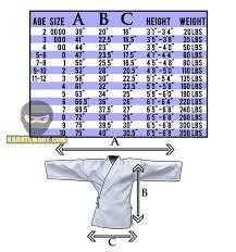Uniform Advantage Size Chart Lightweight Student Uniform Light Weight Karate Uniform