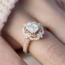 <b>ROMAD</b> White <b>CZ</b> Wedding <b>Rings</b> for Women Silver <b>Ring</b> Geometric ...