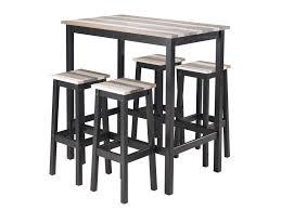 Table Haute 4 Tabourets Turner Vente De Ensemble Table Et Chaise