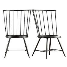 black metal dining chairs. Contemporary Metal HomeSullivan Walker Black Wood And Metal High Back Dining Chair Set Of 2 On Chairs A