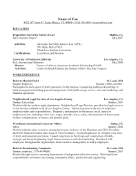 Personal Interests On Resume Examples How To Craft A Law School