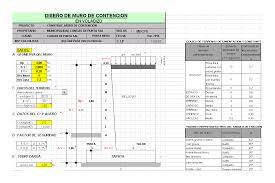 Small Picture Cantilever retaining wall in SPREADSHEET BiblioCAD